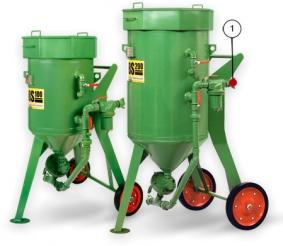 Пескоструйные (абразивоструйные) аппараты CONTRACOR DBS 100, DBS 200