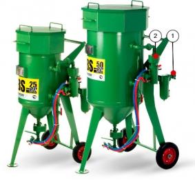 Пескоструйные (абразивоструйные) аппараты CONTRACOR DBS-25 RC, DBS-50 RC
