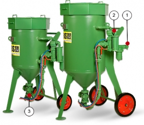 Пескоструйные (абразивоструйные) аппараты CONTRACOR DBS-100 RCS, DBS-200 RCS